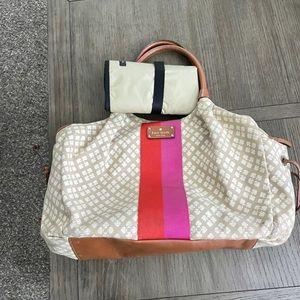Kate Spade Stevie Diaper Bag in Stucco pattern.